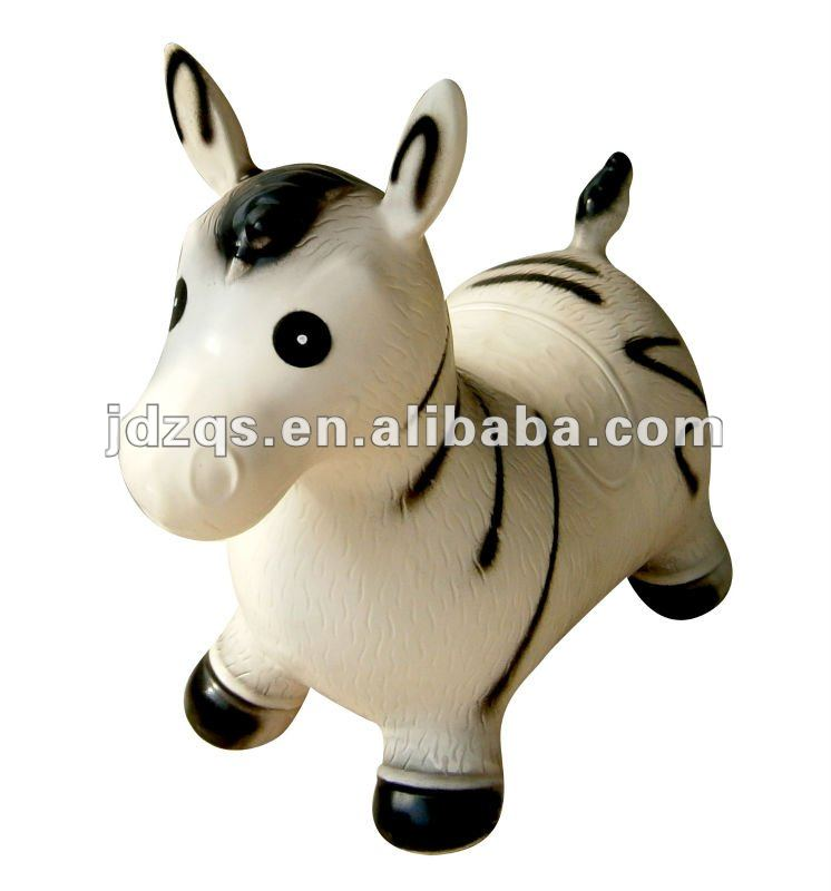 pvc jumping animal toy in inflatable toy animal - horse