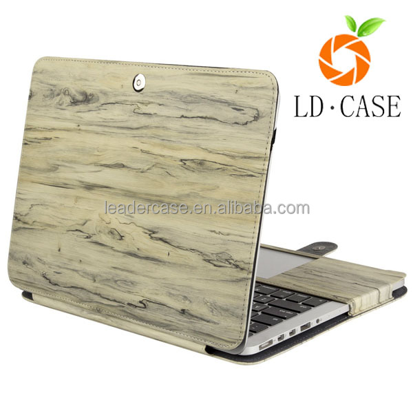 factory wholesale Pattern Print Colorful Case For MacBook Cover with print Wood