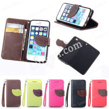 For Apple iphone 5 leather cases, for iphone 5 case with card slots