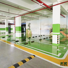 Art epoxy floor paint Painted car park High hardness flooring coating