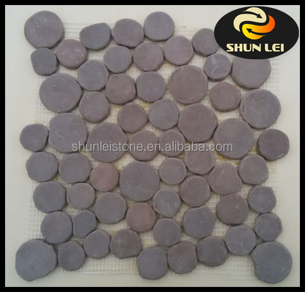 Superfine Grade mosaic Colorful landscaping pebble stone