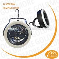 Plastic rechargeable camping lantern with fan and hook with high quality