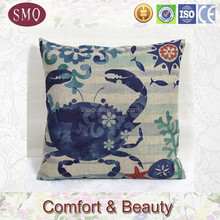 produce customize sofa digital printing crab design cushion cover with cheapest price