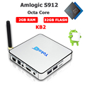 Smart tv box KB2 tv box Amlogic S912 Android6.0 4K*2K Octa Core 2G*32G Streaming Media Player kodi tv box