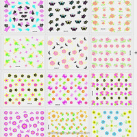 3D Design Tip Nail Art Sticker Decal Manicure Mix Color Flower Beauti Nail sticker CHS-01-30