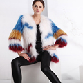wholesale Knitted raccoon fur coat for women