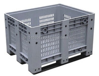 Botttom price 1000*1200*760 Solid stacking tote bin/plastic container for food/plastic pallet box
