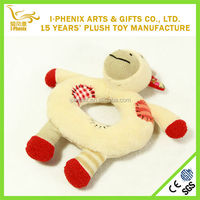 best quality new design small plush baby rattle toys promotion gifts