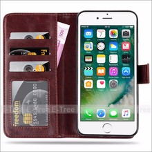 Hot selling OEM / ODM dustproof stand flip leather pu + pc case for iphone 7 plus