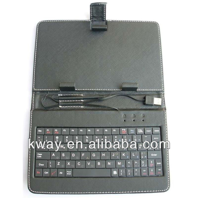 7 inch USB Mini USB 2.0 Keyboard Leather Case for Android Tablet PC MID