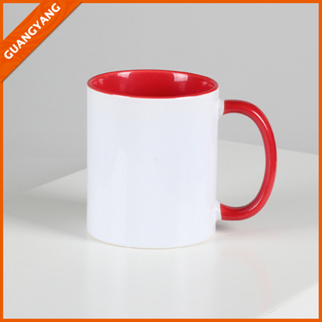Wholesale 11oz Porcelain Ceramic White Coffee Mug For