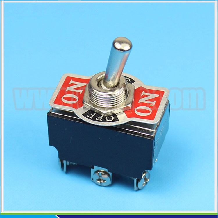 TS43 10a 250vac electrical on-off-on 6 pin DPDT 3 position toggle switch