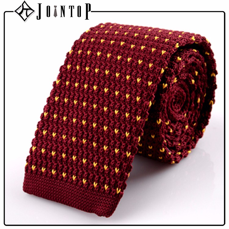 custom knit embroider tie with low moq <strong>10</strong>