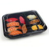 Black Bento Food Packaging Container Tray