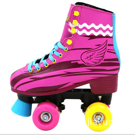 New hot sale fashion kids women quad roller skates pinky soy luna roller skate
