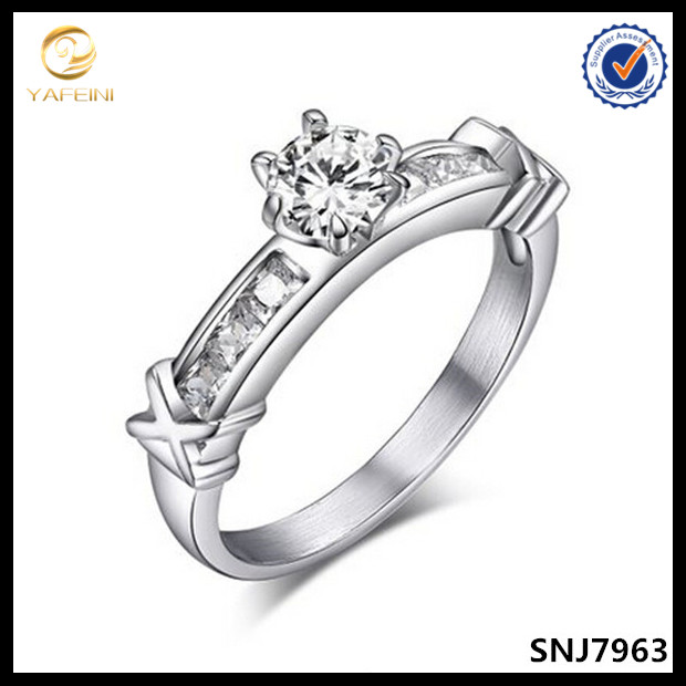 Fashionable women jewelry 925 sterling silver diamonds cut engagement wedding ring