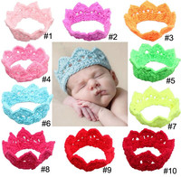 Fancy nice crochet crown shaped knitted baby headband