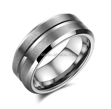 Tungsten Men Cock Ring, 8mm Groove Tungsten Carbide Wedding Ring For Men Size 8 To 13