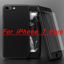 Full Body Coverage Of 360 Degree Case For Apple iPhone 6 6s 7 Phone Cover For iPhone 7 6s Plus With Tempered Glass Film