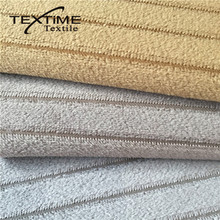 2017 Good Price SGS Approve Hotel 100% Polyester Satin Stripe Fabric For Sofa