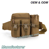 China Factory tactical waist bag military bum bags with water bottle holder