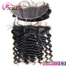 xblhair new hair style virgin loose deep brazilian lace frontal closure 13x4