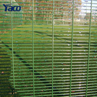 Strong tension PVC powder coated 358 fence
