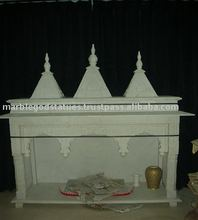 White marble hand carved temple for home