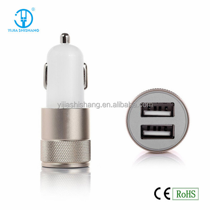 High Quality New Desing Phone Car Charger 3.1A Mini Car Charger 2 Ports LED Car Charger