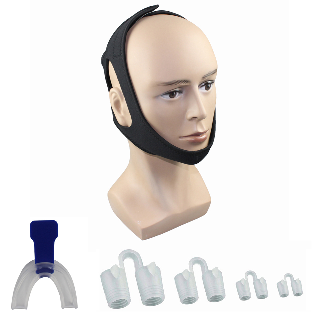 Anti Snoring Devices <strong>Kit</strong> Includes Anti Snore Chin Strap and Sleep Mouth Guard, with Bonus Anti Snore Nose Vents