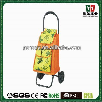 New Design Foldable Round Handle Shopping Cart