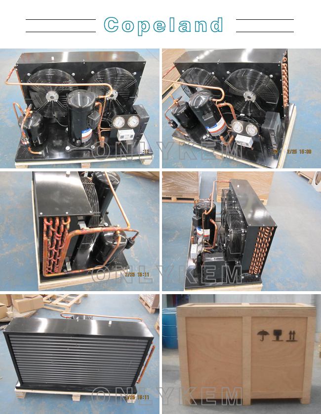air cooled Refrigerationcondensing unit with Copeland compressor