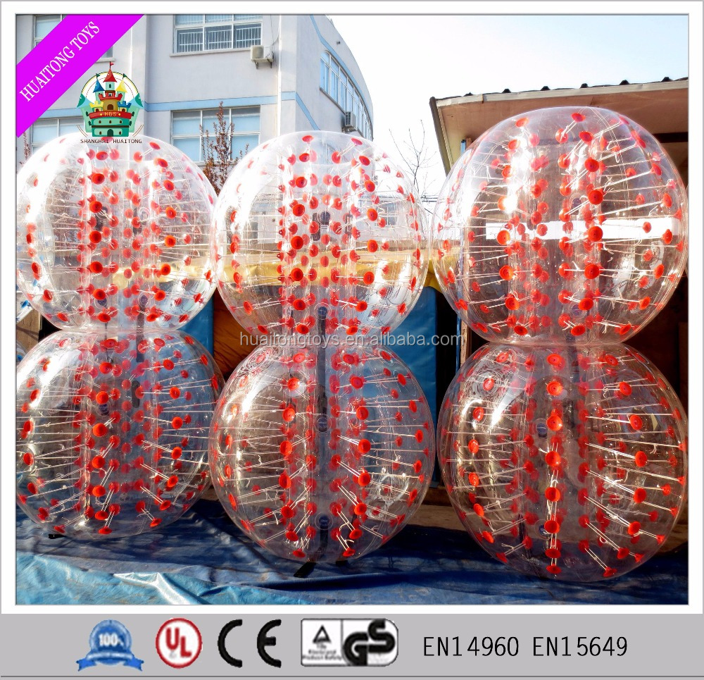wholesale 1.2m/1.5m inflatable bubble ball soccer suit for adults and kids games