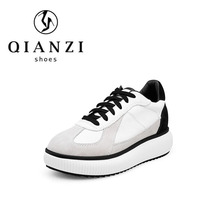 Comfort plus popular white sneakers casual strappy flats shoes for women