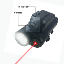 Tactical combo red laser sight camera flashlight self defense police equipment