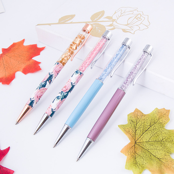 Alibaba Gold Supplier New Design Luxury Crystal Metal Ball Pen With Logo Custom