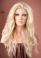Glueless free tangle blonde silk top full lace wigs