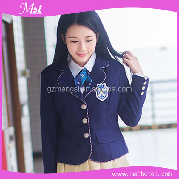 Wholesale new style school uniforms design with customized design