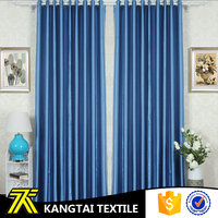 2016 Yarn dyed blue color high quality hotel curtain for wholesale