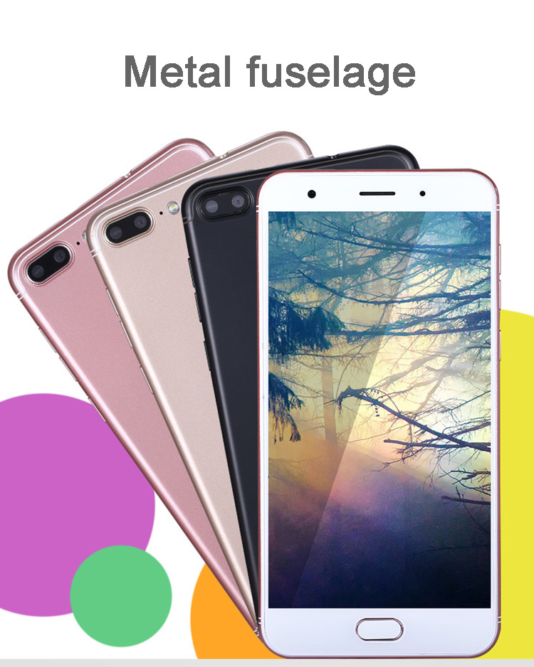 MTK6580T Octa Core Cell Phone Android 7.0 5.5 Inch 4GB RAM 64GB ROM Smart Phone OTG 4G LTE Mobile Phone