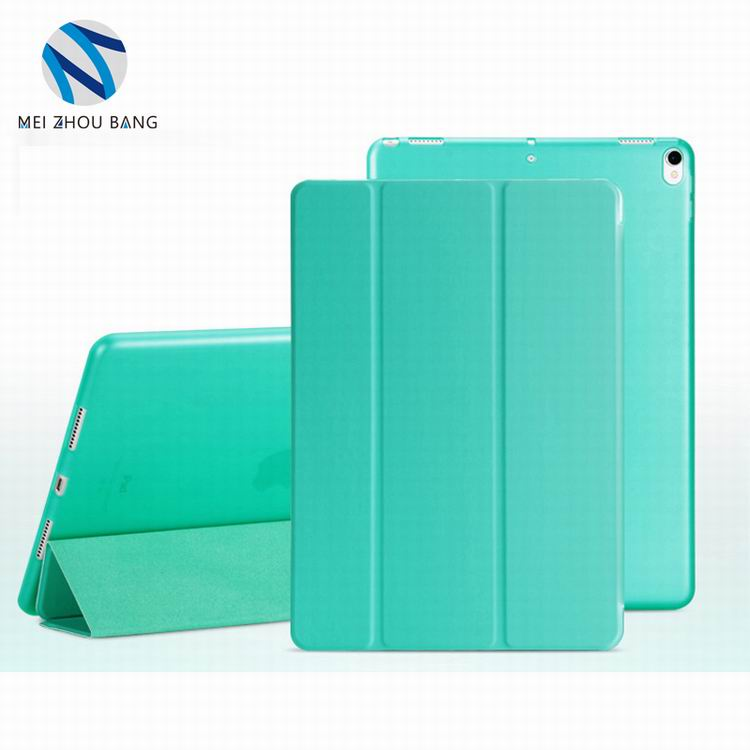 wholesale wake function 3 folding TPU soft stand tablet case for iPad 2 3 4