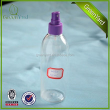 Plastic atomizer sprayer ,fine mist spray pump with clear bottle