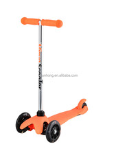 cheap mini kick kids scooter, LED flashing wheels