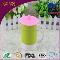 Multi-Functional Round Ceramic Tea Cups with Lids Well Sealing