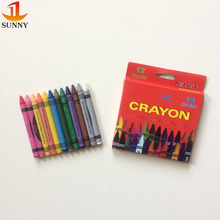 EN71 12pcs children drawing color non-toxic wax crayon
