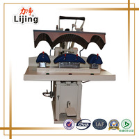 Shirt cuff press machine, collar press machine, gusset pressing machine