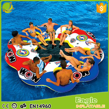 10 Person Inflatable Pool Float Island Party Lake River Cooler Houseboat