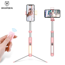 Bluetooth Selfie Stick Tripod, Extendable Phone Tripod Selfie Stick with Wireless Remote and Mini Pocket Selfie Stick for iPhone