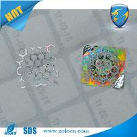 anti-fake hologram labels 3D/ label sticker
