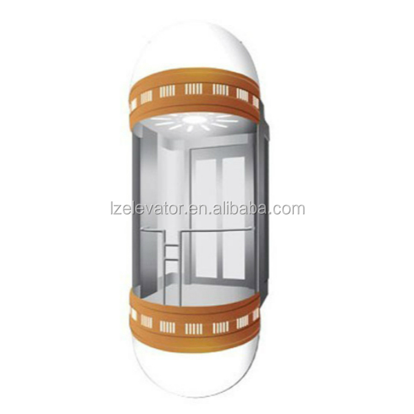 Glass Panoramic Elevator for Commercial Building Use